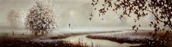 No Worries' by John Waterhouse - Original Painting on Board sized 32x9 inches. Available from Whitewall Galleries